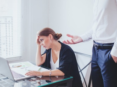 office worker being patronised featured