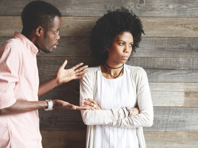couple arguing about work featured