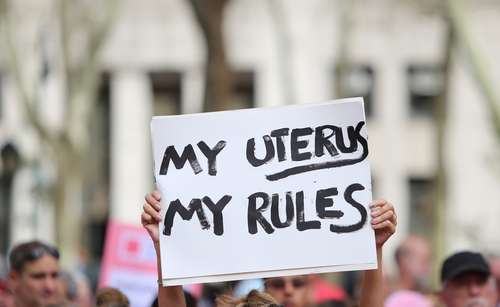 abortion, my uterus my rules poster