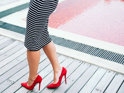 woman wearing high heels featured