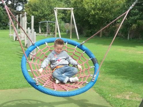 Kyler on the big swing
