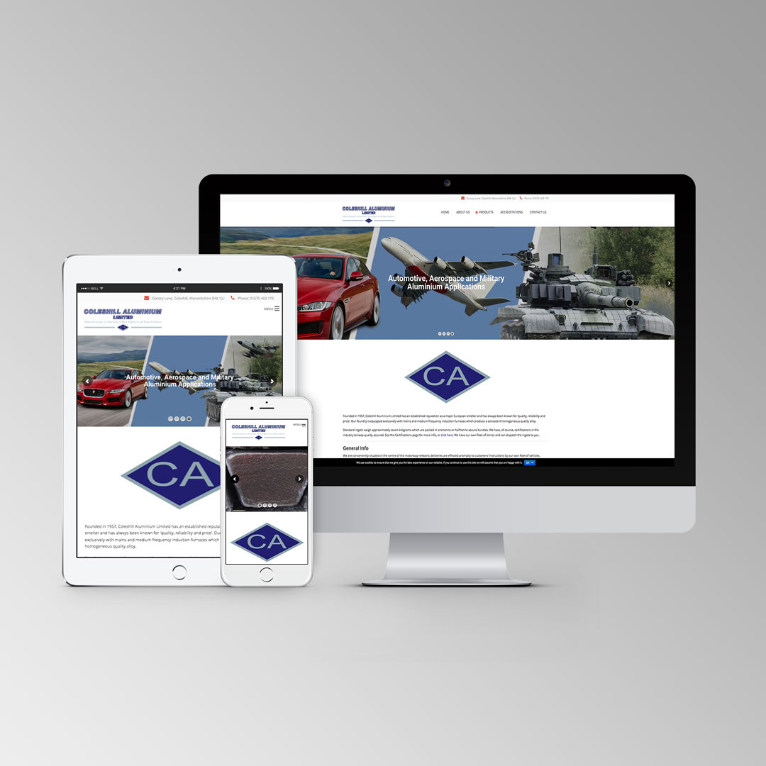 Coleshill Aluminium Website.