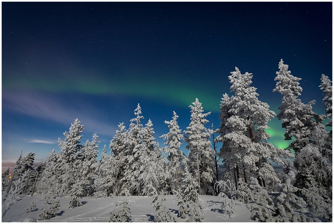 Northern Lights Ski Tour Finland by Wild Connections Photography