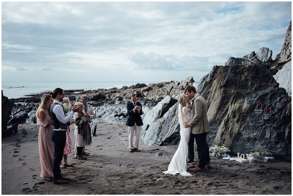 Beach elopement in Cornwall by Liberty Pearl Photography