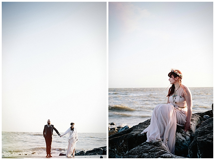Welsh beach wedding by Claudia Rose Carter