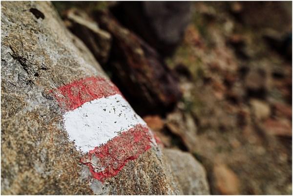 Hiking trail marker in Austria