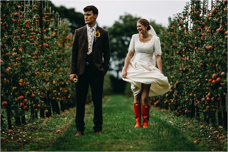 Wellington Boots wedding by Hannah Hall Photography
