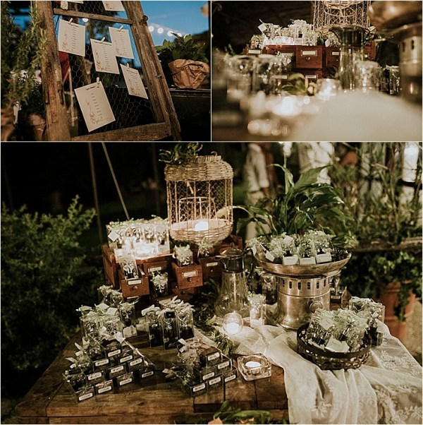 The wedding reception details and table plan at Borgo di Tragliata by Michele Abriola