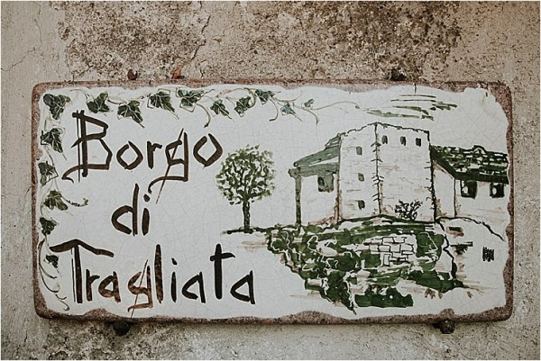 The entrance to Borgo di Tragliata by Michele Abriola