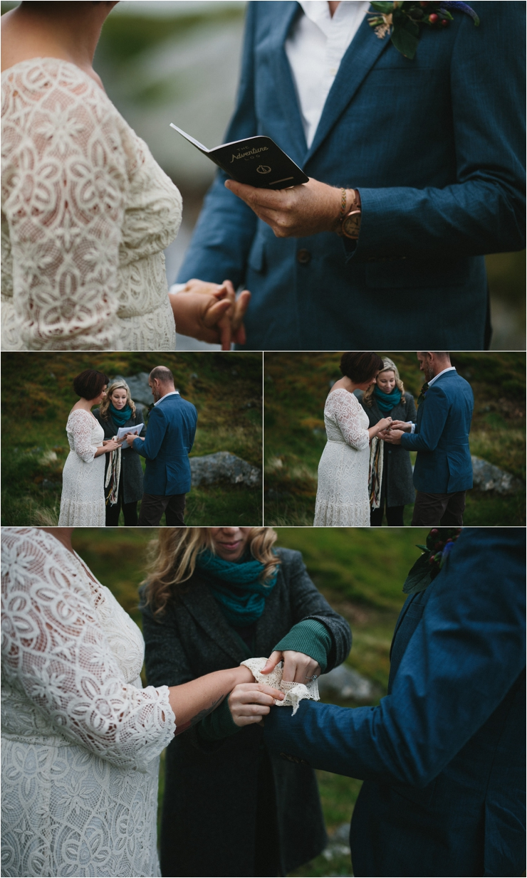 A handfastening ceremony in Lofoten Norway by Thomas Stewart