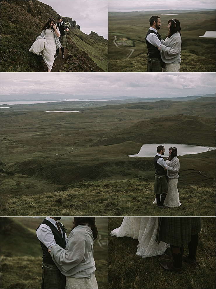 Bride and groom portraits on the Isle of Skye by Maureen Du Preez