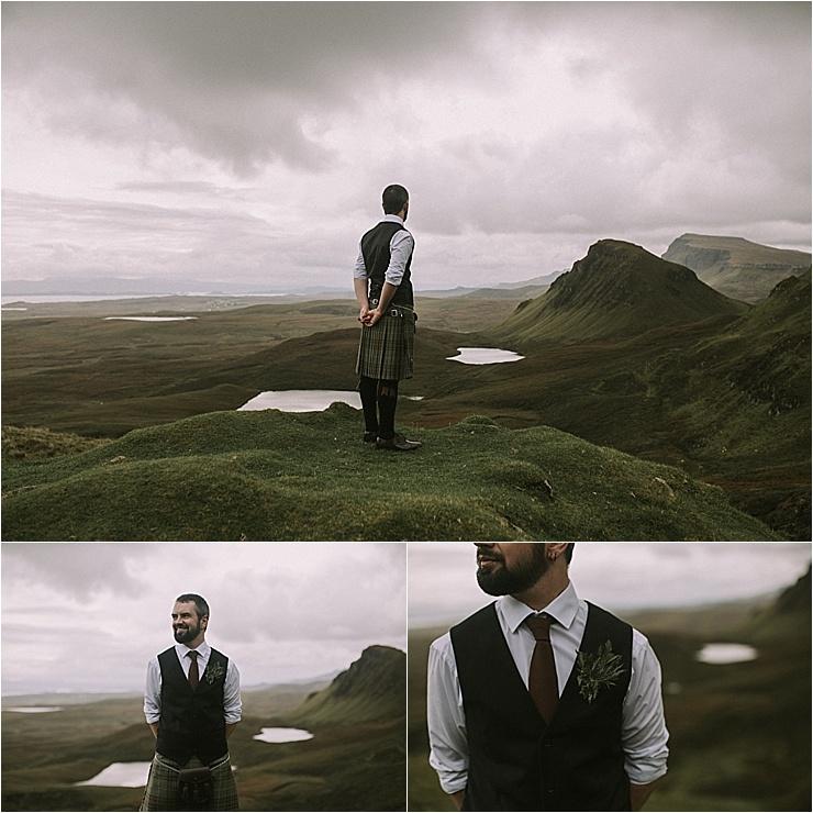 An Isle of Skye Scottish groom in a kilt by Maureen Du Preez