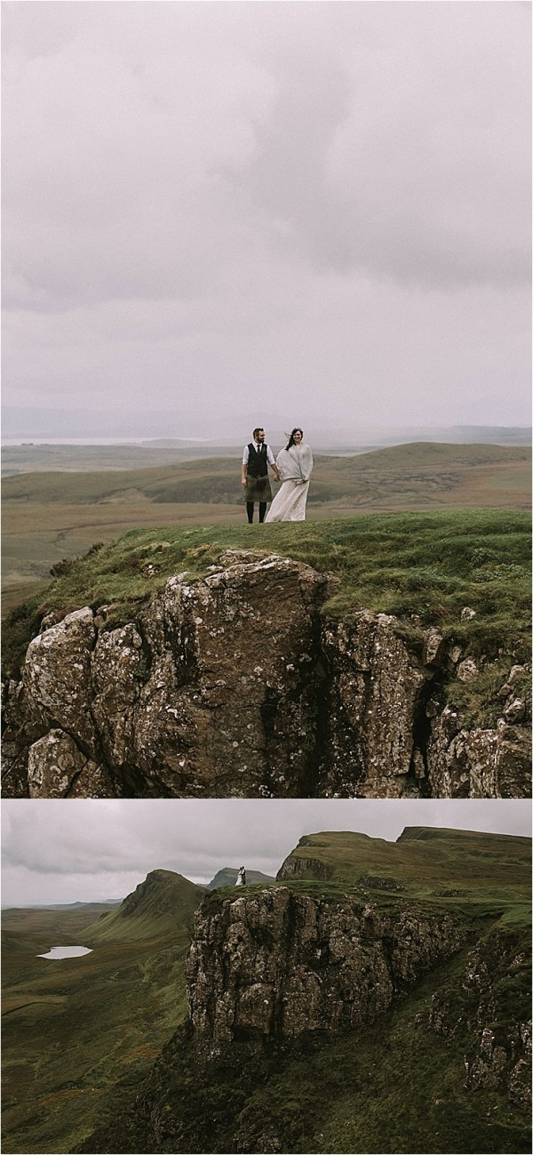 Wild clifftop wedding portraits in the Isle of Skye by Maureen Du Preez