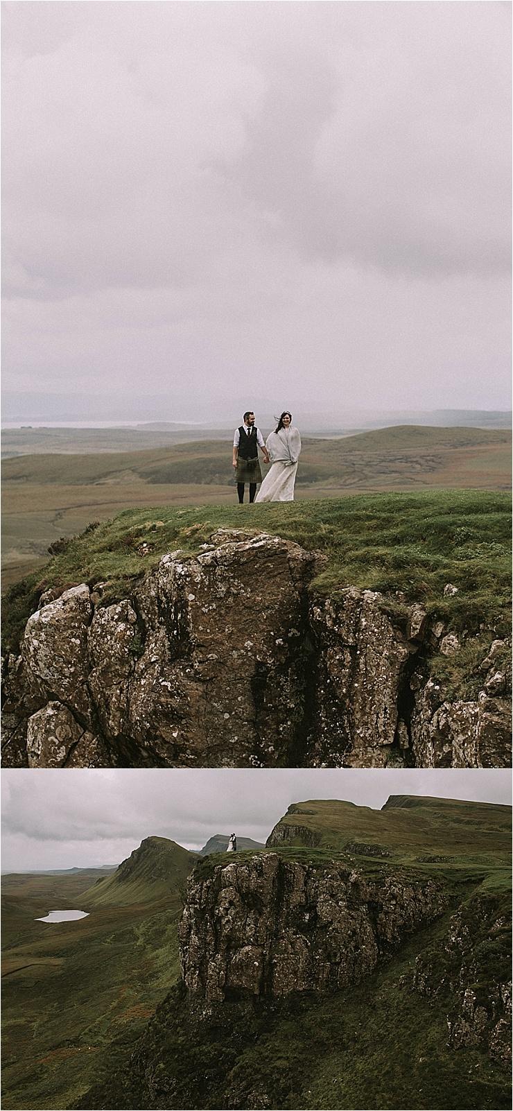Wild clifftop wedding portraits in the Isle of Skye by Maureen Du Preez