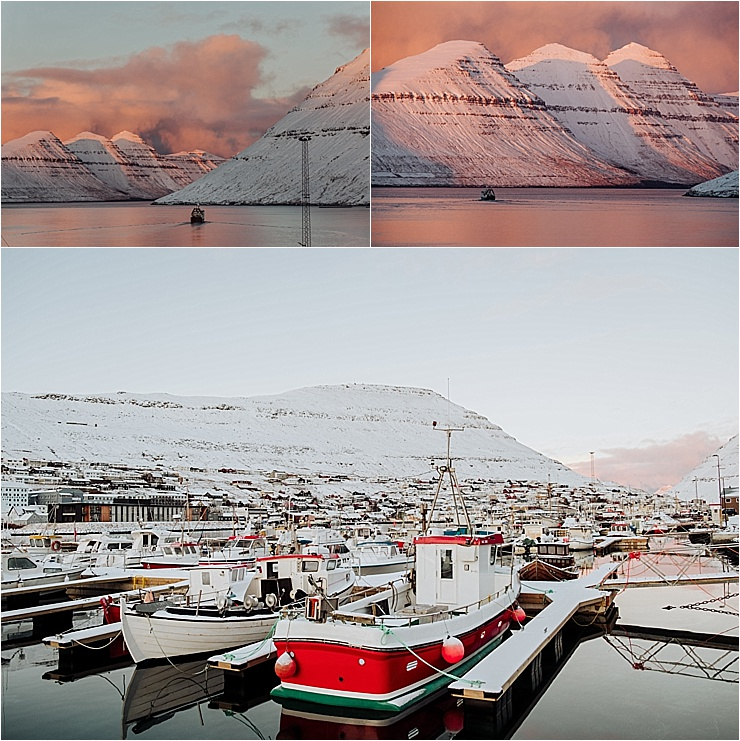 The town and harbour of Klaksvik in the Faroe Islands on We Are The Wanderers