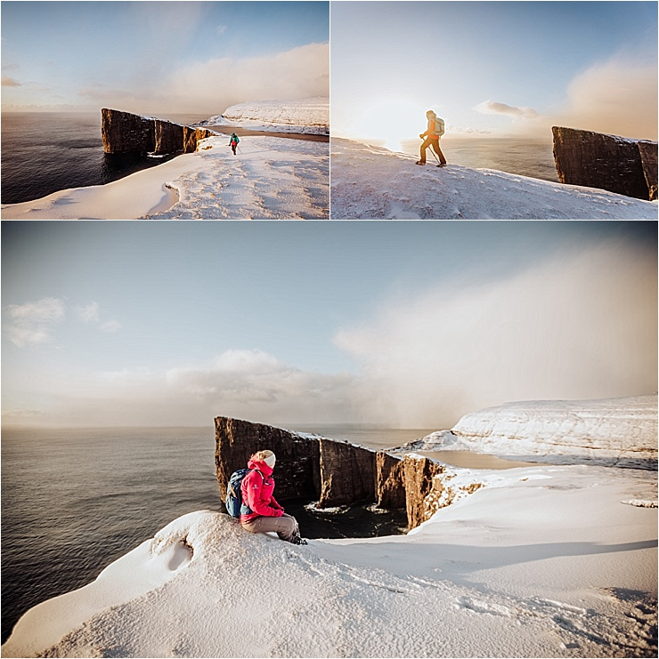Winter hiking in the Faroe Islands at sunrise by We Are The Wanderers