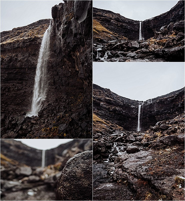 Fossurin í Fossá waterfall in the Faroe Islands on We Are The Wanderers