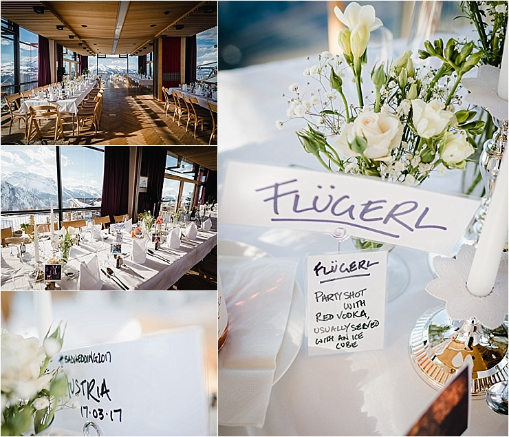 A ski wedding reception in Mayrhofen by Wild Connections Photography