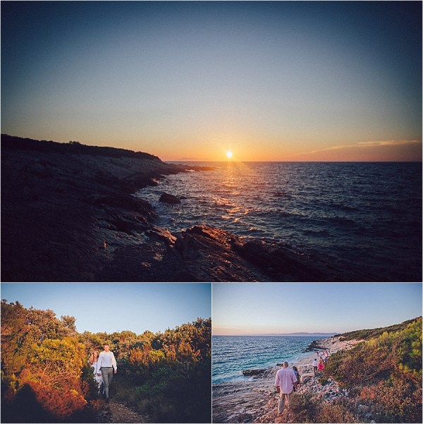 A sunset wedding ceremony in Croatia by Matija Kljunak Weddings