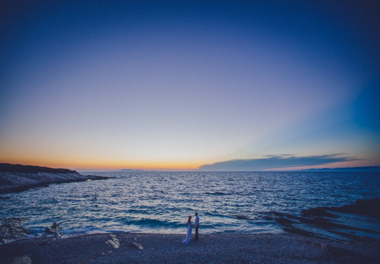 A remote island wedding in Croatia by Matija Kljunak Weddings
