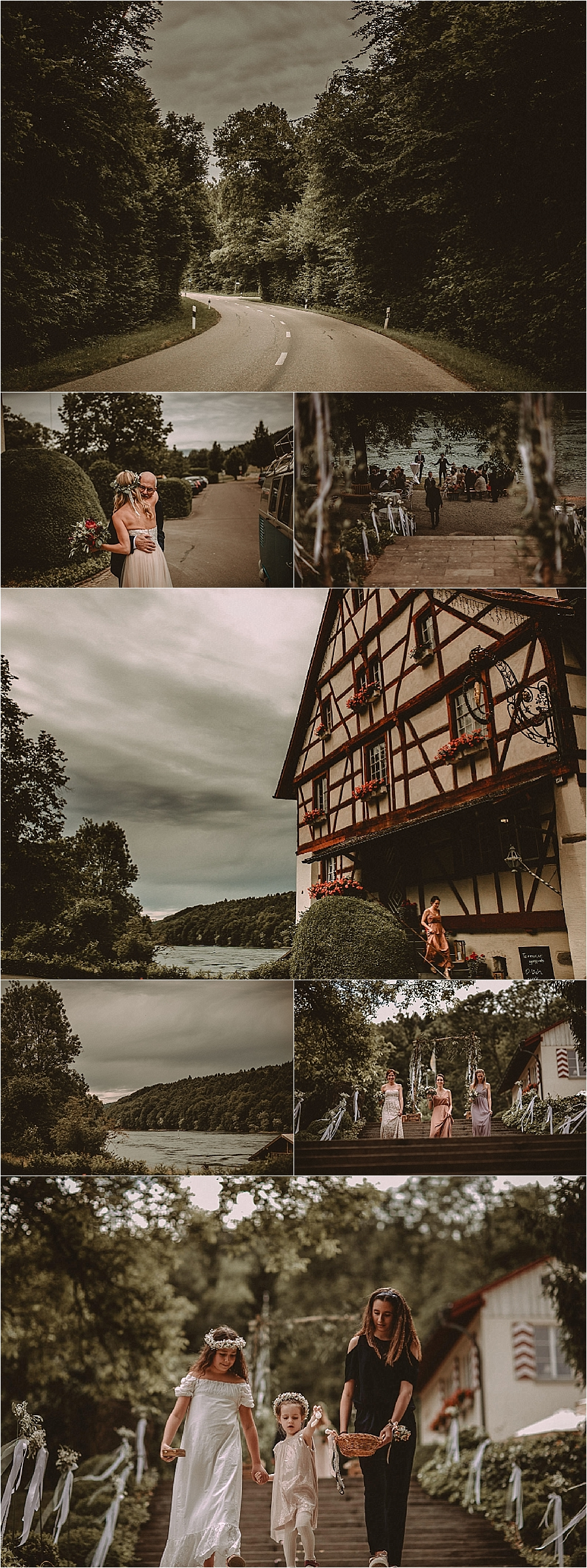 A riverside wedding ceremony at Gasthaus Schupfen on the river Rhine in Switzerland by Bring Me Somewhere Nice