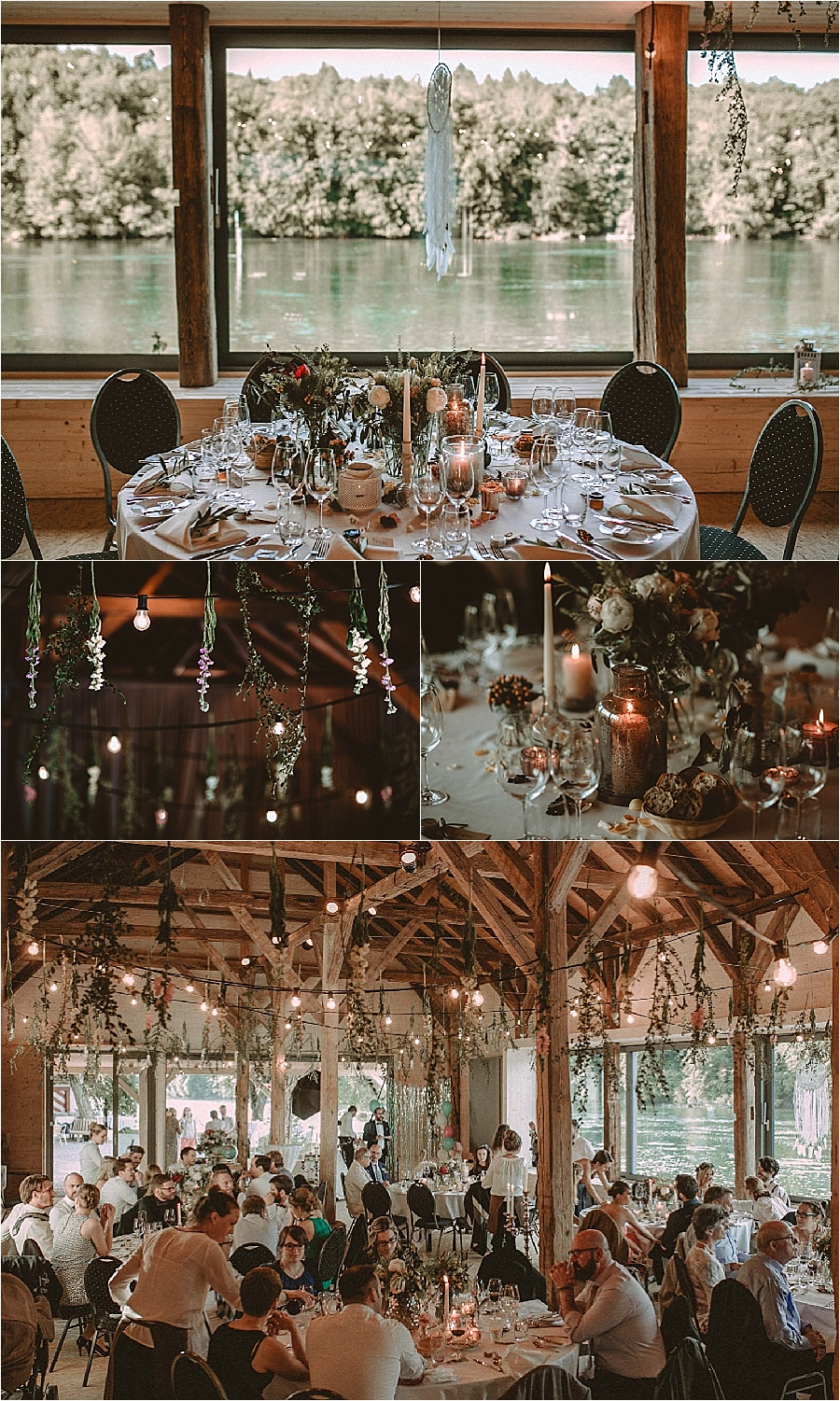 Bohemian wedding reception details for this wedding at Gasthaus Schupfen in Switzerland by Bring Me Somewhere Nice