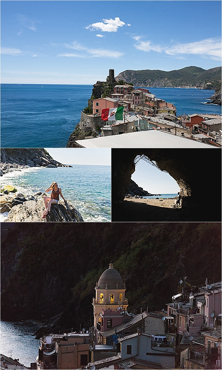 The beach at Vernazza in the Cinque Terre in Italy by Chris & Becca Photography