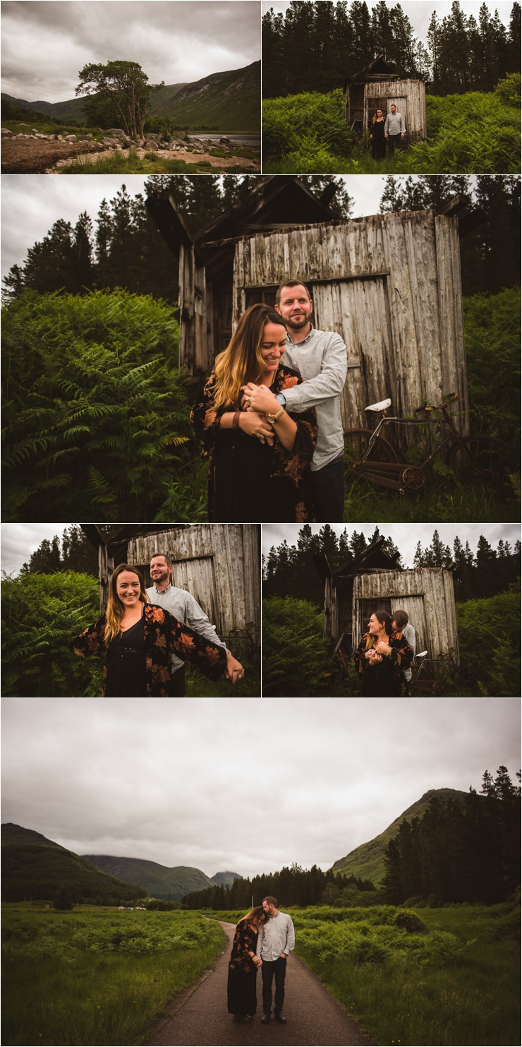 Surprise Proposal in Scotland and a cute wooden shed by Bridle Photography