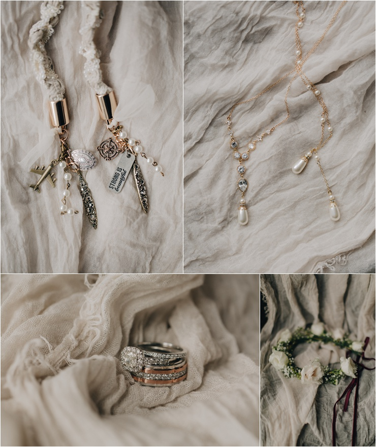 Bridal details for an elopement at Dunluce Castle by Paula O'Hara