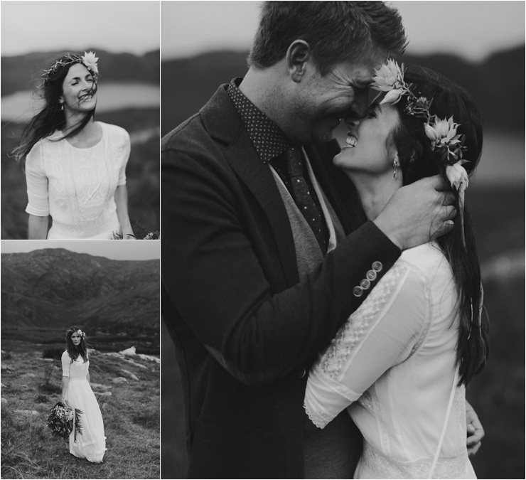 A happy bride in Glengarriff in West Cork by Paula O'Hara Photography
