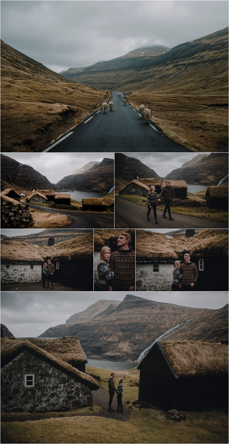 A couple shoot in Saksun in the Faroe Islands by Barefoot + Bearded Photography