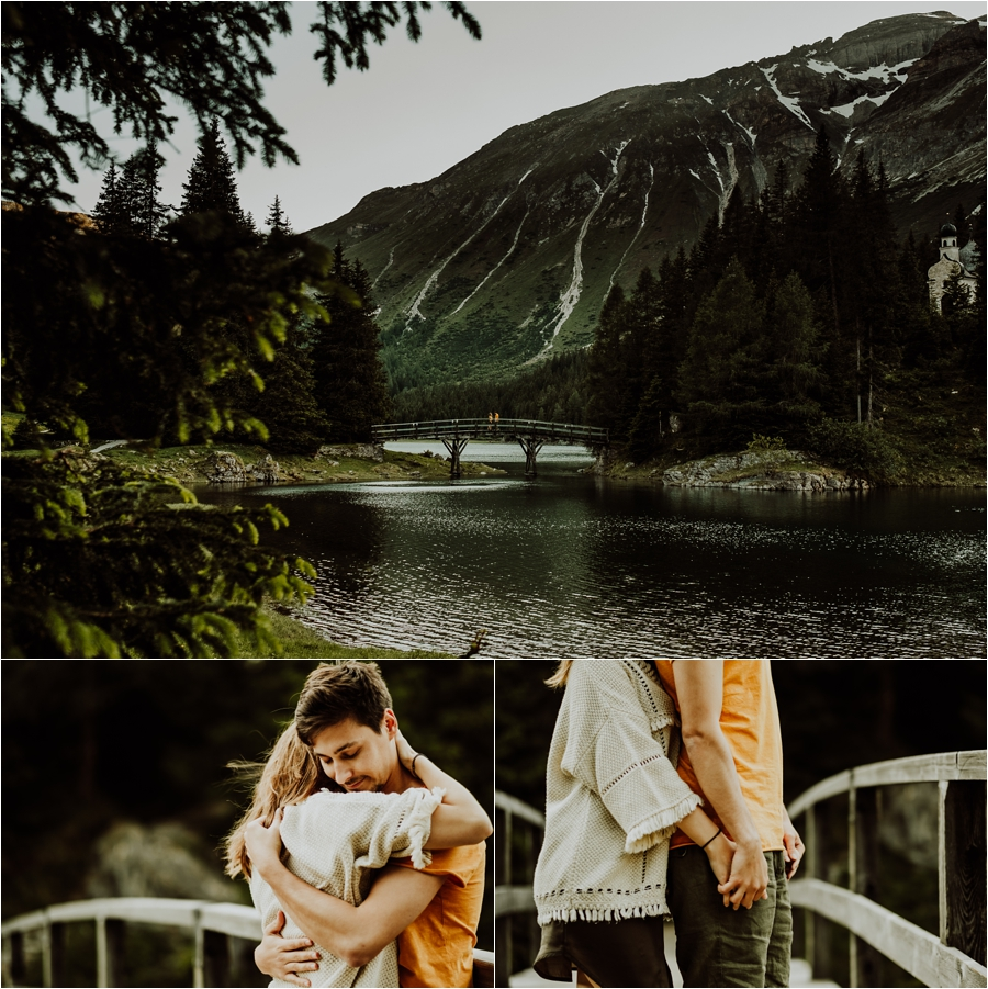 Obernberg Lake engagement shoot in the Austrian Alps by Wild Connections Photography