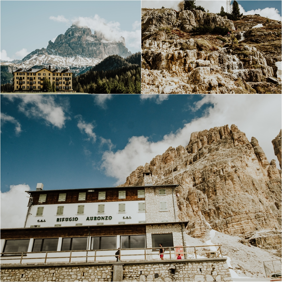 Rifugio Auronzo at the base of the Tre Cime in the Dolomites by Wild Connections Photography