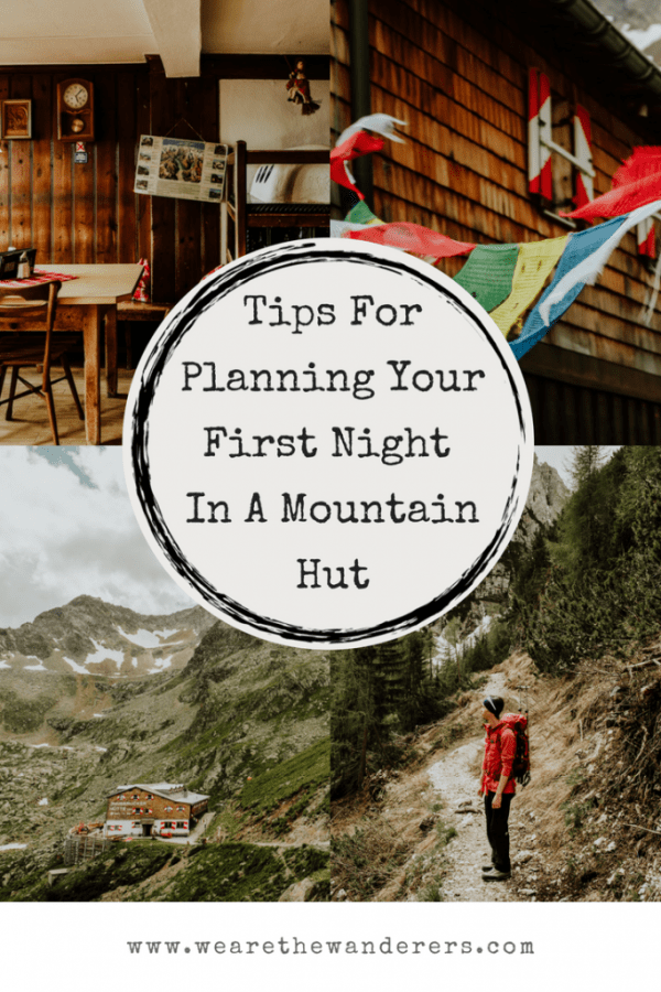 what to expect for your first mountain hut experience graphic