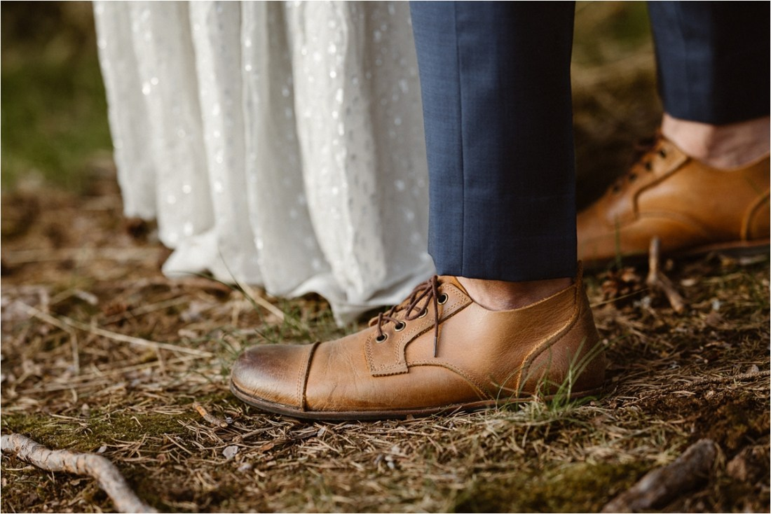 Close up of the groom's shoes by Ingvild Kolnes