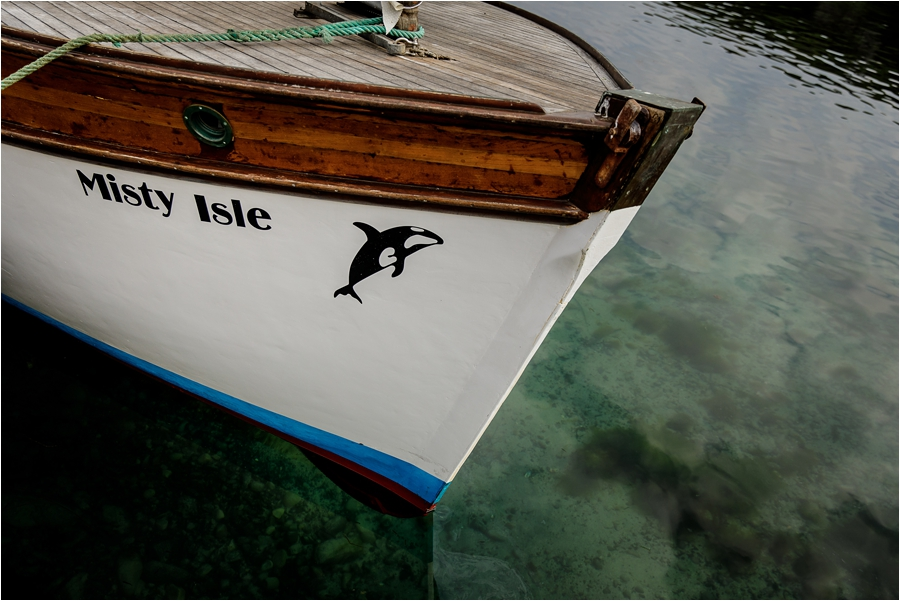 Misty Isle boat for a Loch Coruisk Elopement On The Isle Of Skye by Lynne Kennedy Photography