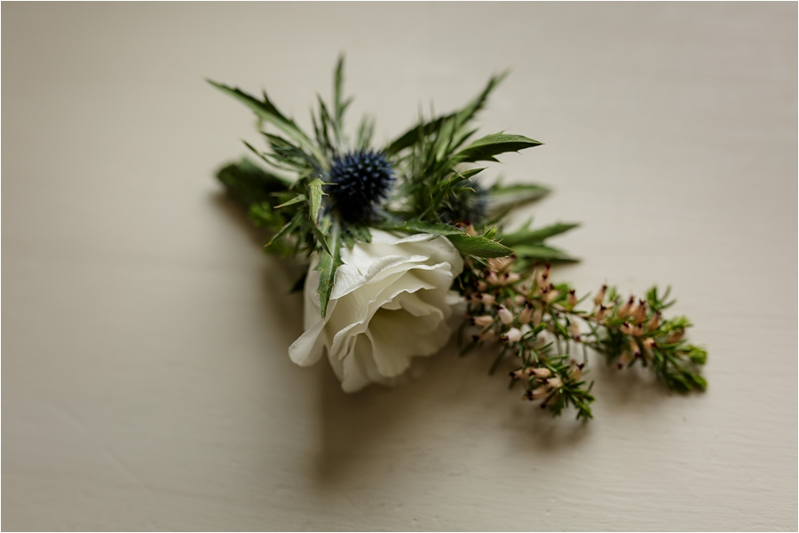 The groom's buttonhole for a Loch Coruisk Elopement On The Isle Of Skye by Lynne Kennedy Photography