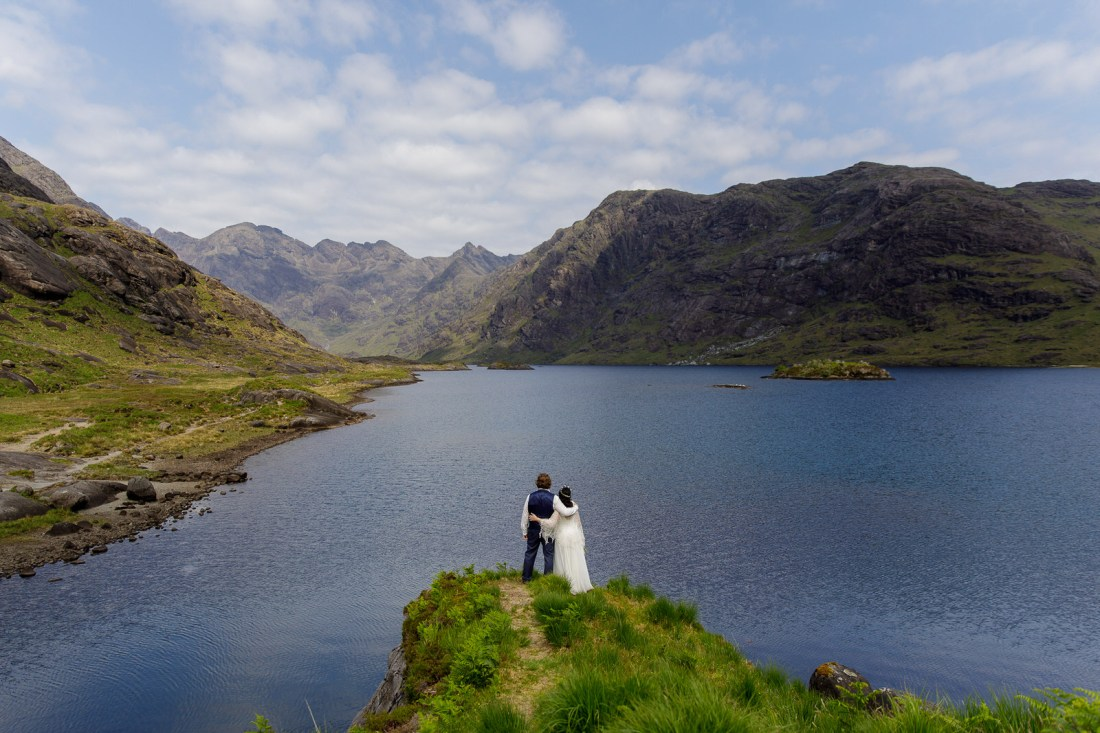 Tina & Jürgen enjoy the view across the Loch by Lynne Kennedy Photography