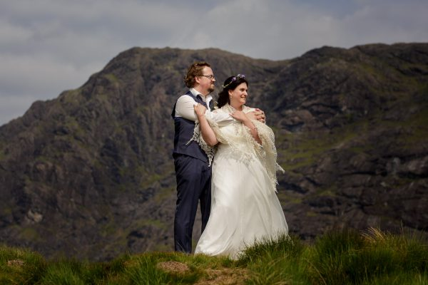 The dark clouds start to close in around Jürgen & Tina on the Isle of Skye by Lynne Kennedy Photography