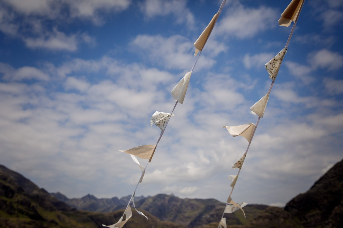 The flags on the Isle of Skye boat by Lynne Kennedy Photography
