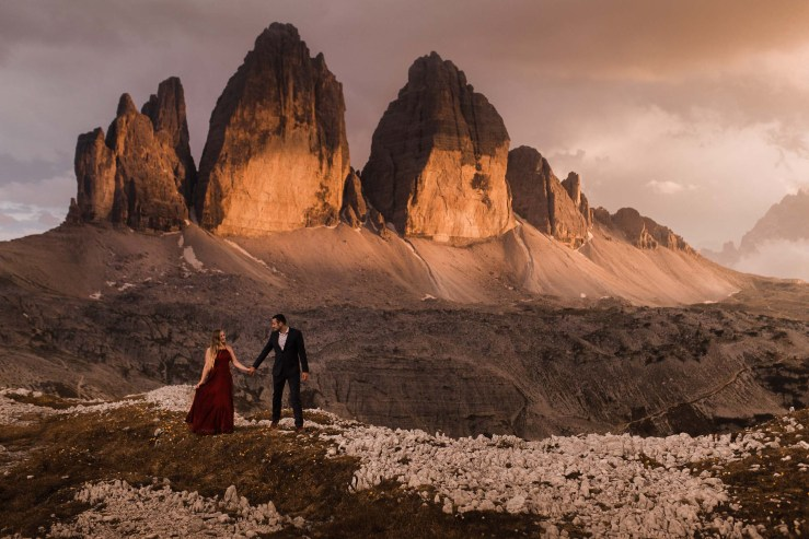 Tre Cime couple shoot by Daniela Vallant Photography