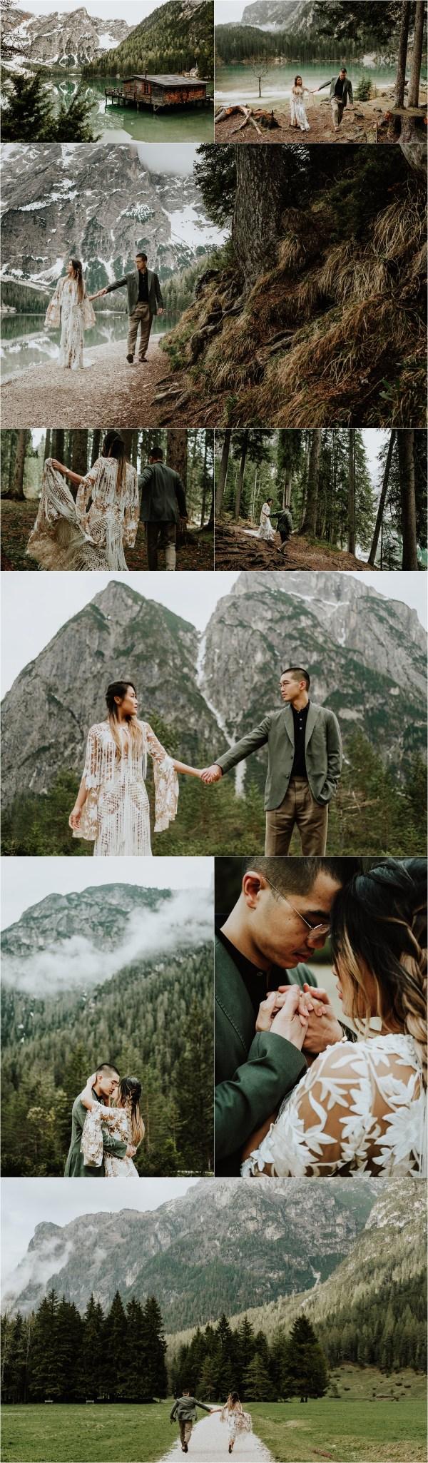 pre-wedding shoot at Lago Di Braies, Pre-Wedding Shoot At Lago Di Braies In The Dolomites