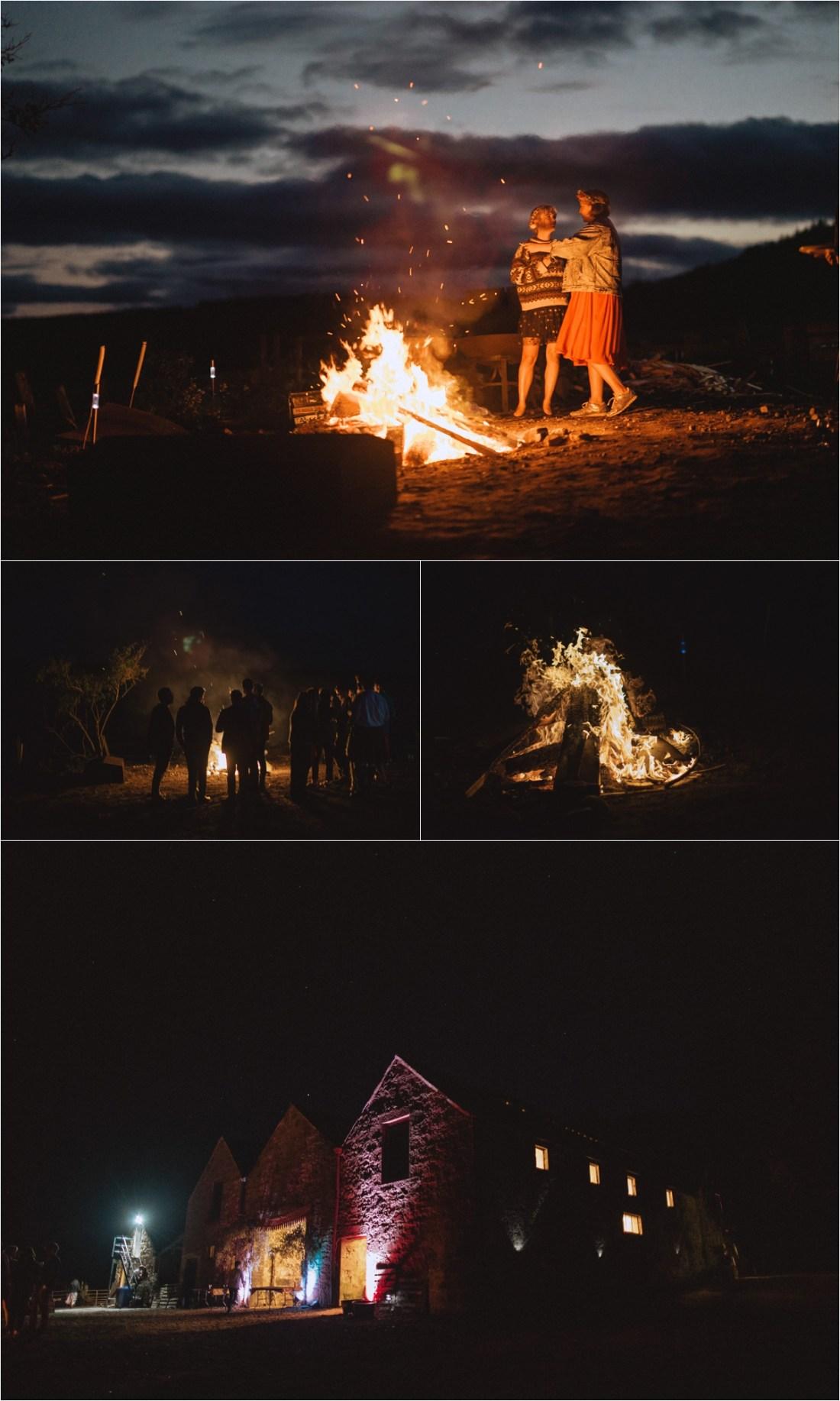 A wedding bonfire by Fox & Bear Photography