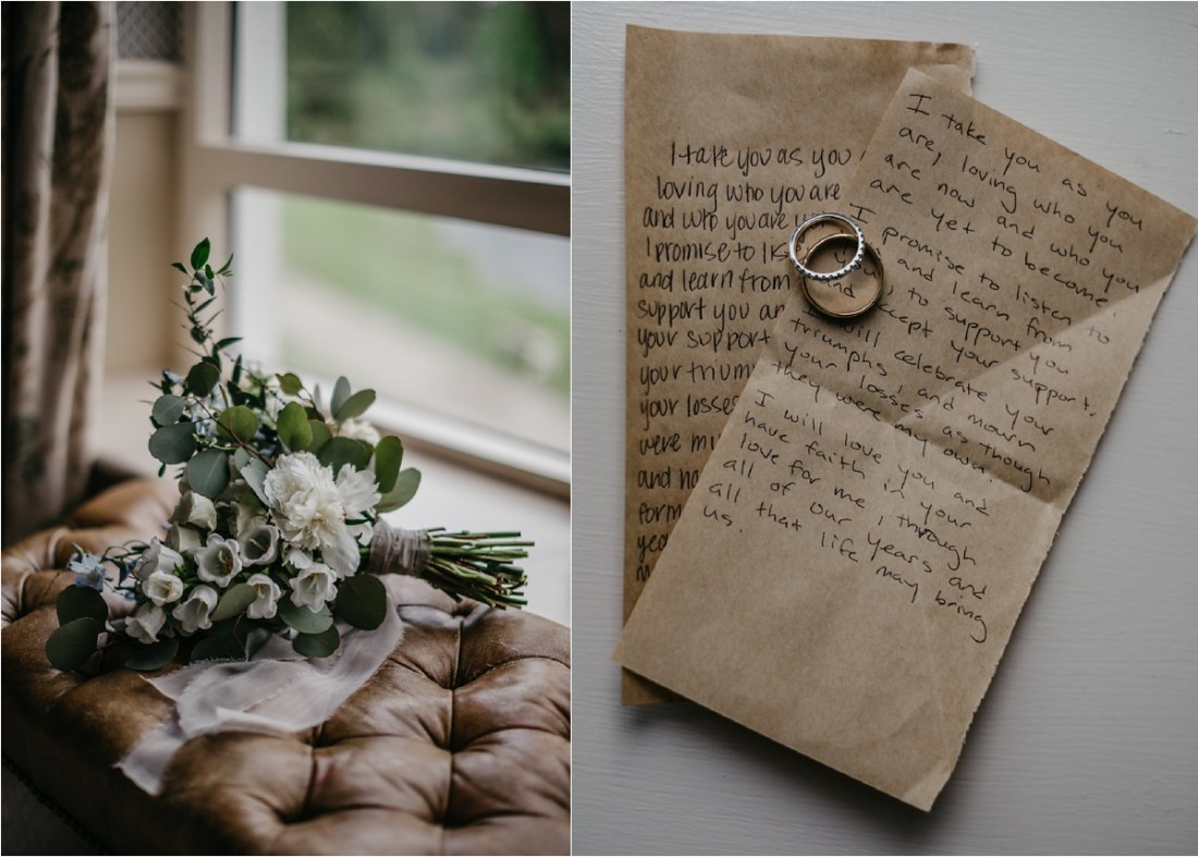 Katherine & Tommy's hand written vows by No Other Love Photography
