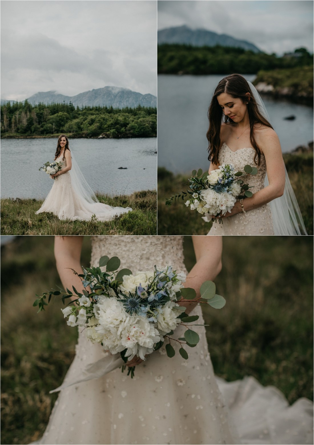 Bridal portraits of Katherine at Ballynahinch Castle by No Other Love Photography