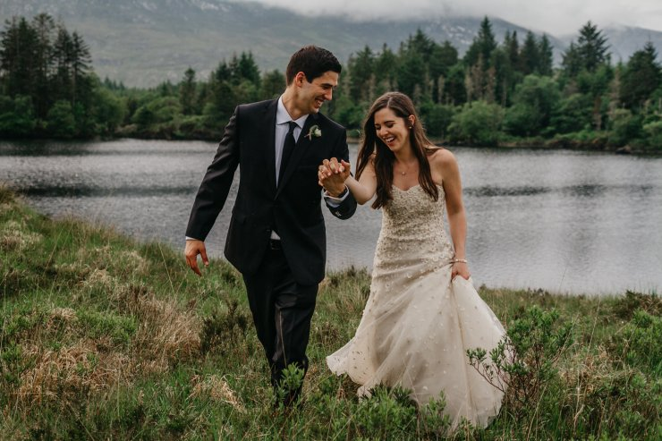 An Intimate destination wedding in County Galway Ballynahinch Castle at by No Other Love Photography