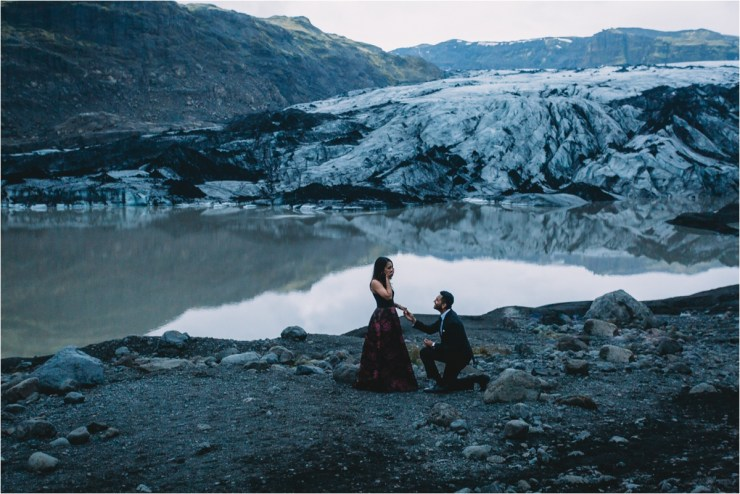 Secret glacier proposal in Iceland by Zakas Photography