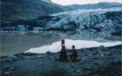 Secret glacier proposal in Iceland by Zakas Photography