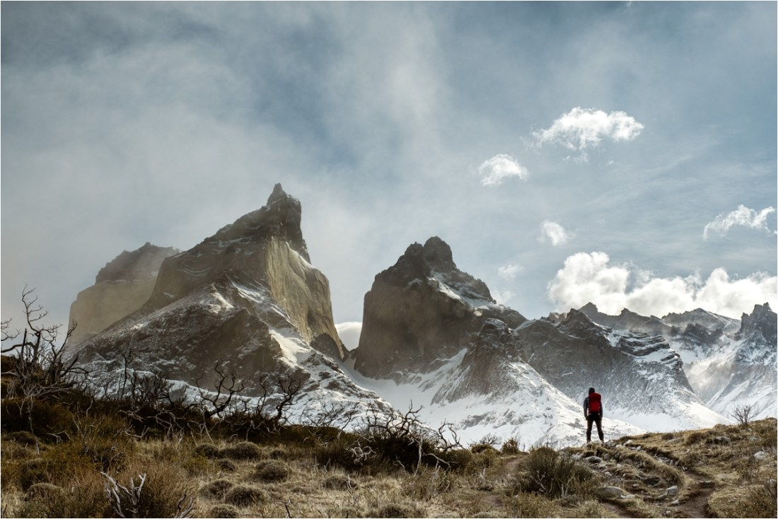 Looking over the Cuernos in Torres Del Paine National Park in Patagonia by Wild Connections Photography