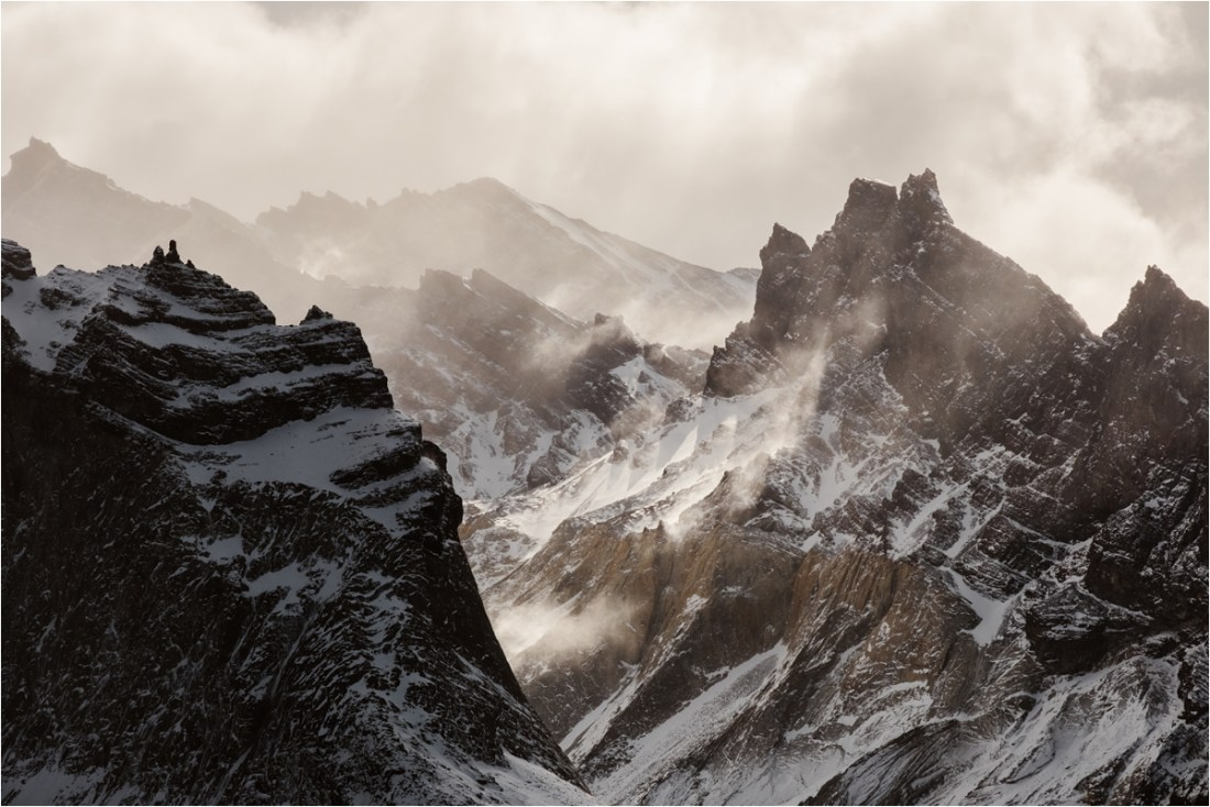 A close up photo of the Cuernos in Torres del Paine Chile by Wild Connections Photography